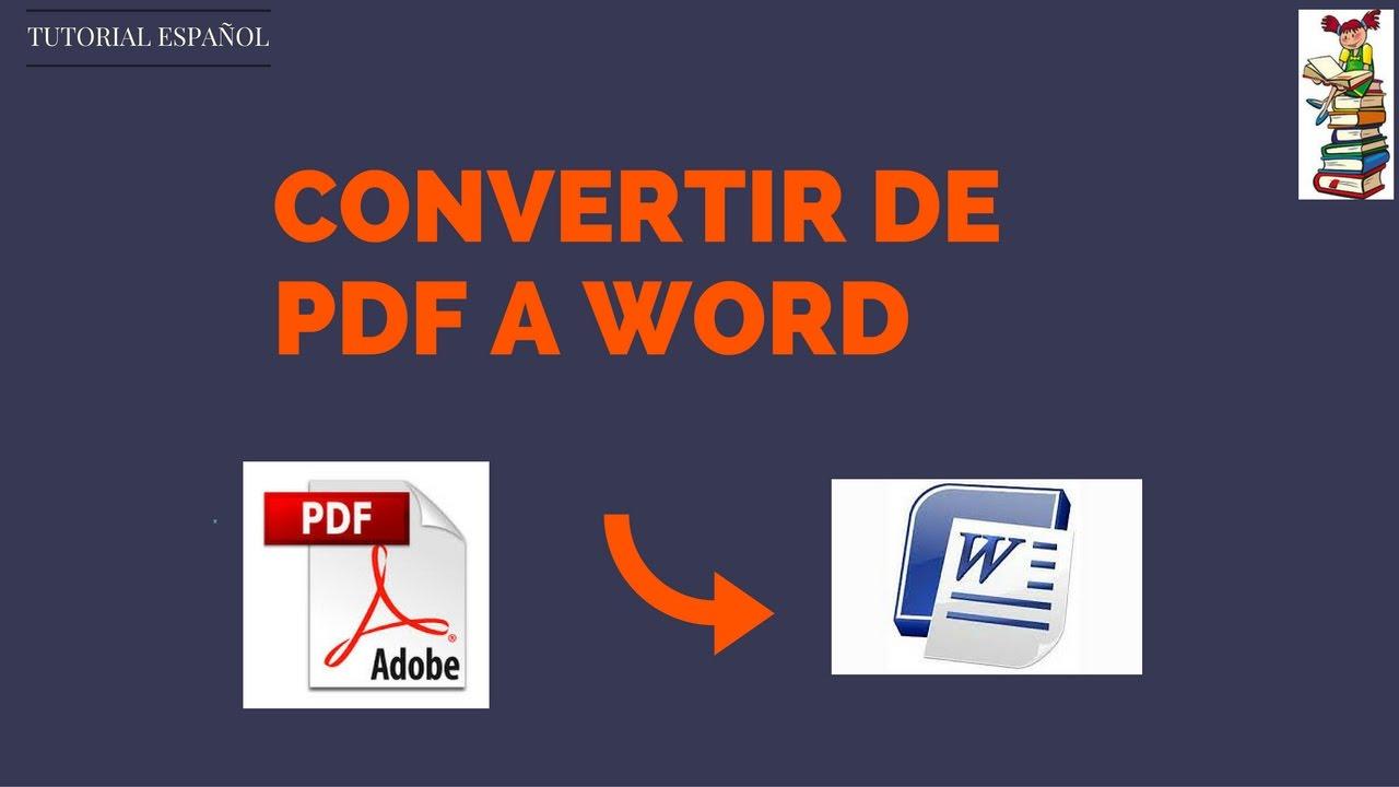 Convertidor De Pdf A Word Gratis En Español