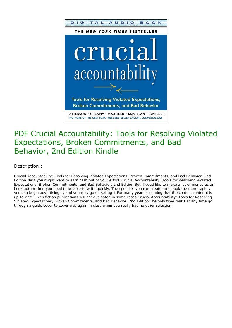 Crucial Accountability Pdf