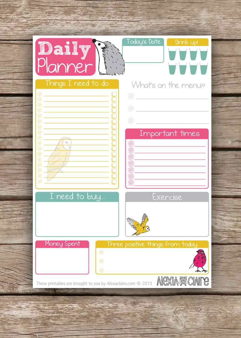 Daily Cute Printable To Do List Pdf