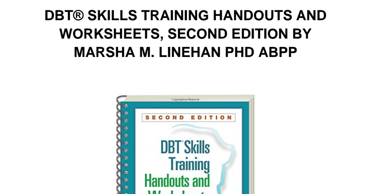 Dbt Skills Training Handouts And Worksheets Pdf