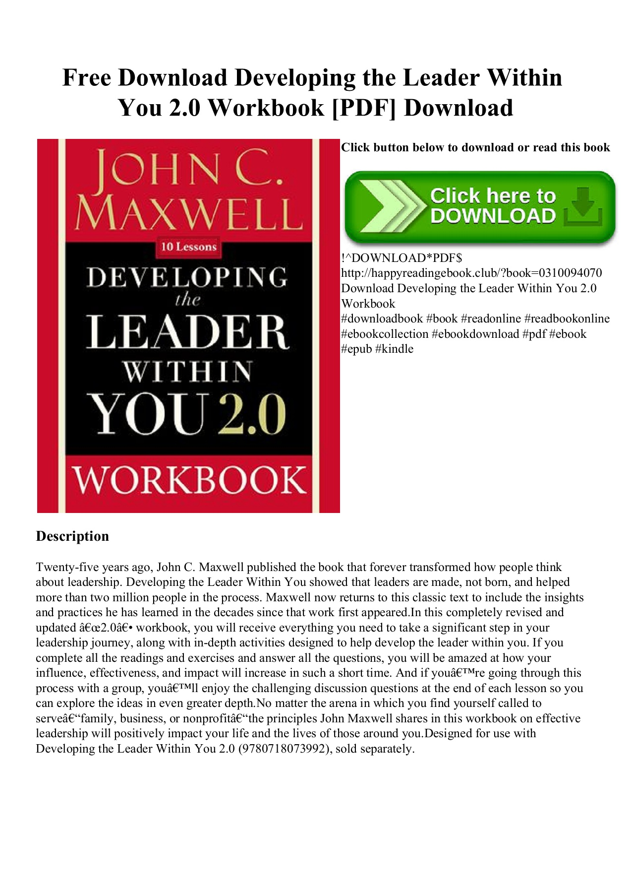 Developing The Leader Within You Pdf Free Download