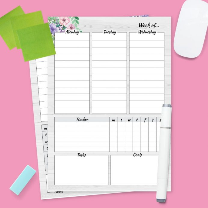 Downloadable Weekly Planner Printable Pdf