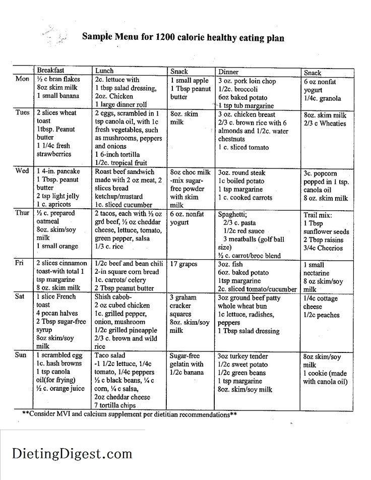 Dr Nowzaradan 1200 Calorie Diet Plan Pdf