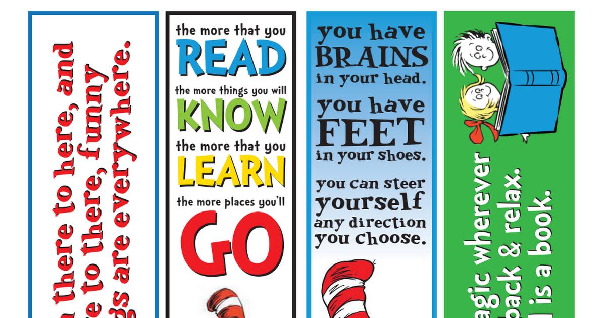 Dr Seuss Free Printable Quotes Pdf
