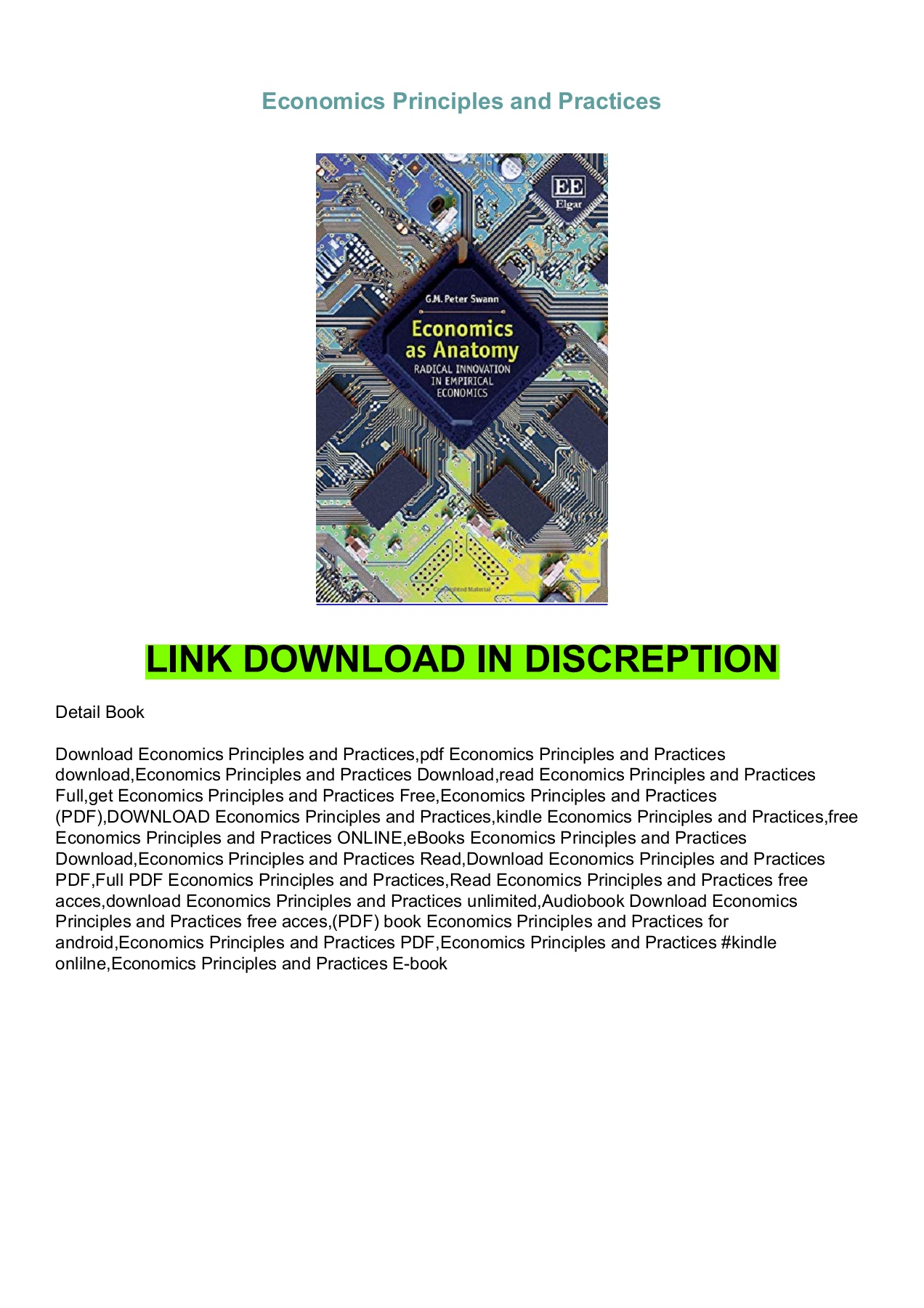 Economics Principles And Practices Pdf