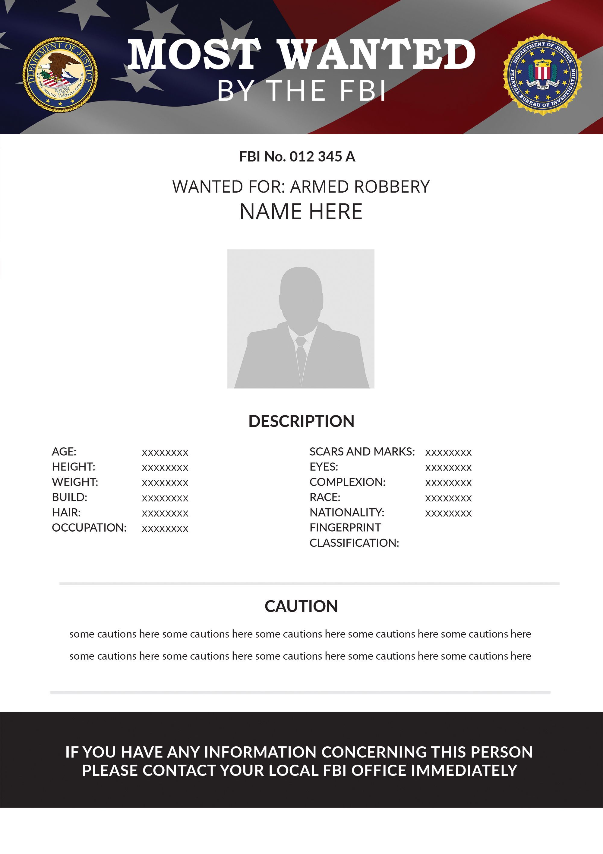 Editable Pdf Wanted Poster Template