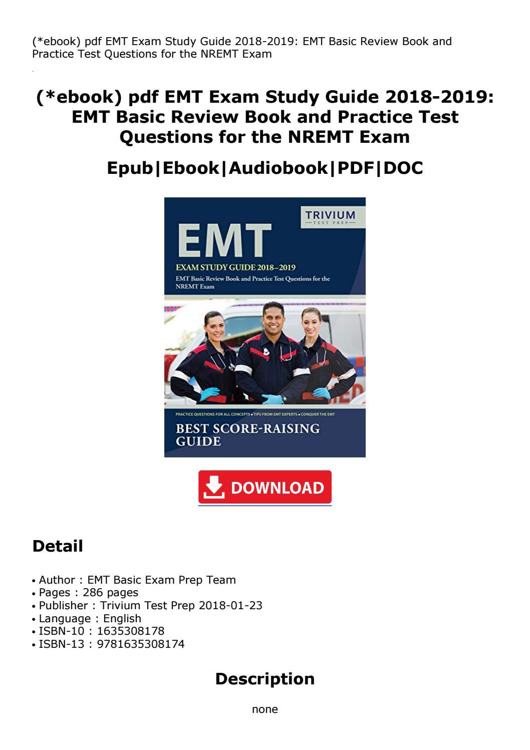 Emt Basic Study Guide Pdf