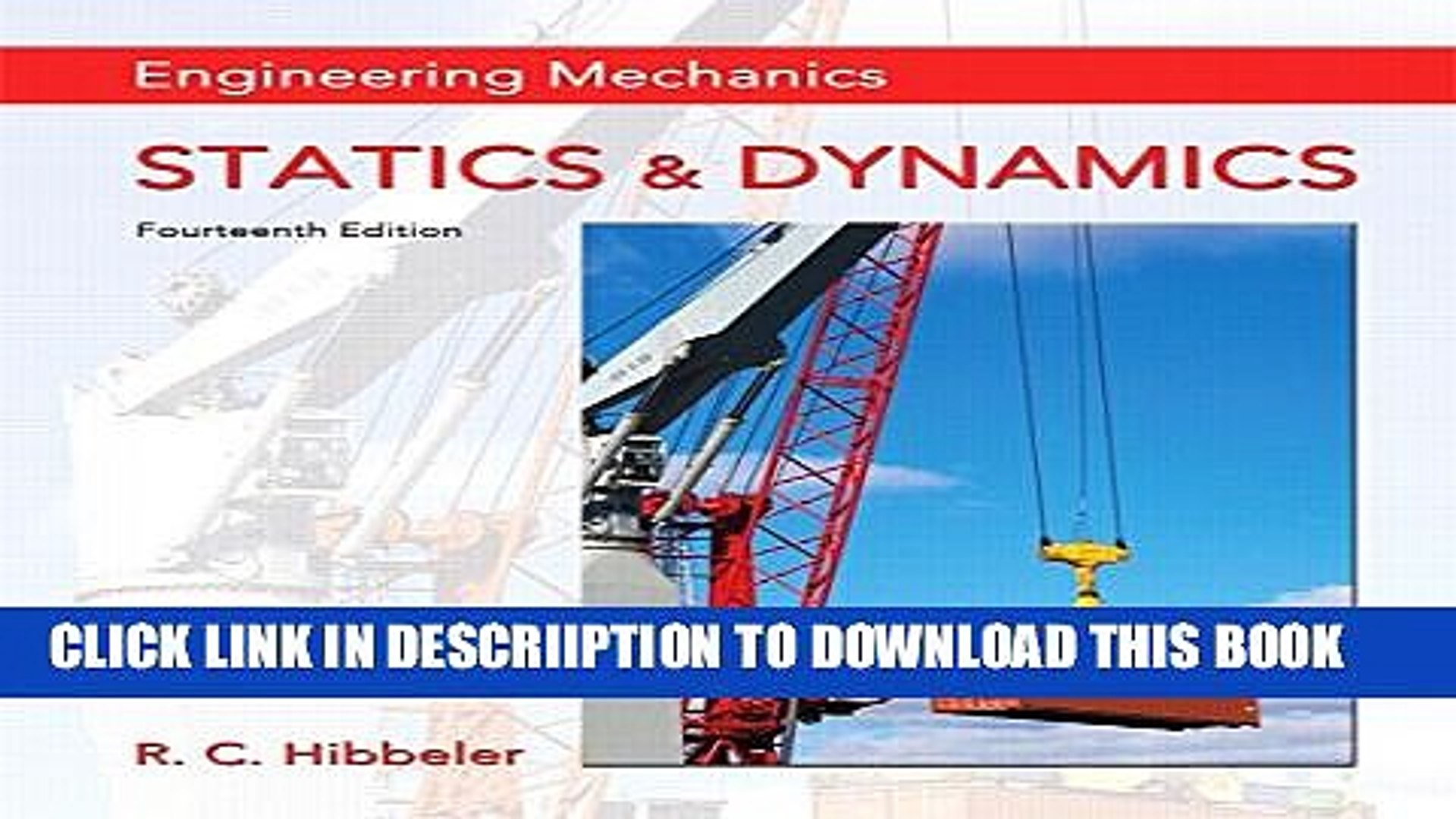 Engineering Mechanics Statics Hibbeler 14th Edition Pdf Download Free