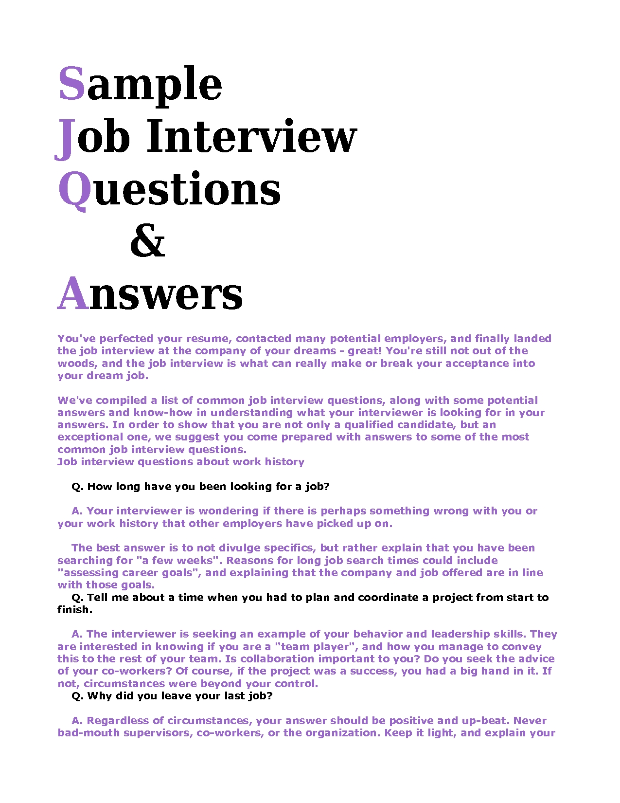English Teacher Interview Questions And Answers Pdf