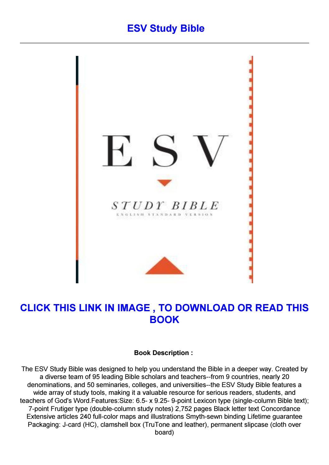 Esv Study Bible Pdf Free
