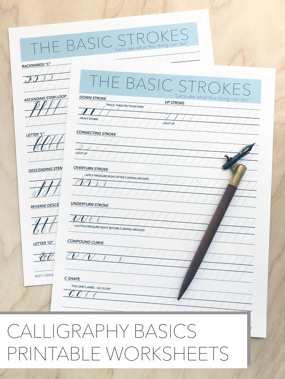 Faux Calligraphy Worksheets Pdf