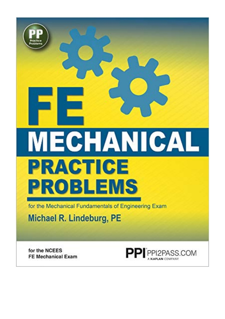 Fe Mechanical Practice Problems Pdf Free Download