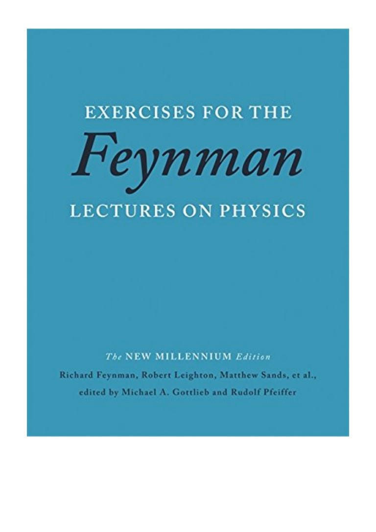 Feynman Lectures On Physics Pdf