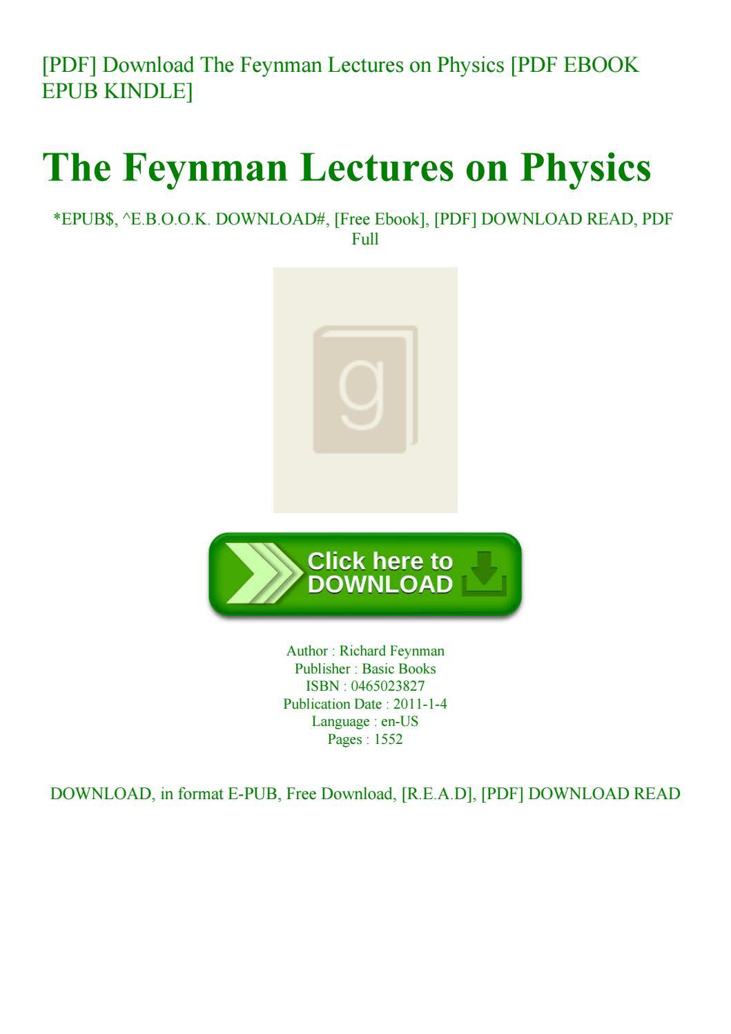 Feynman Lectures Pdf Download