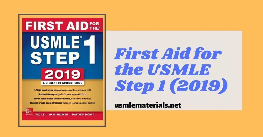 First Aid 2019 Pdf Download