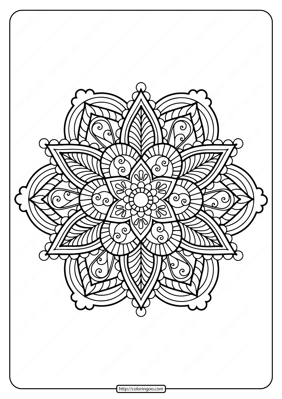 Flower Mandala Coloring Pages Pdf