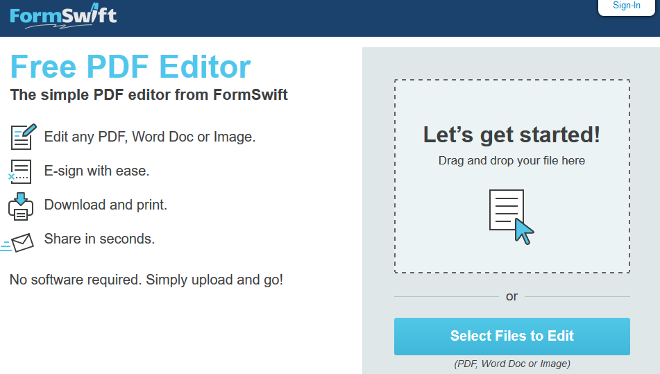 Formswift Pdf Editor Download