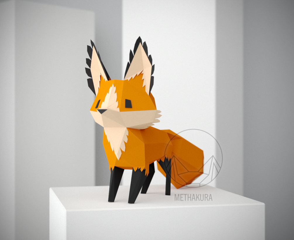 Fox Printable Free Papercraft Templates Pdf