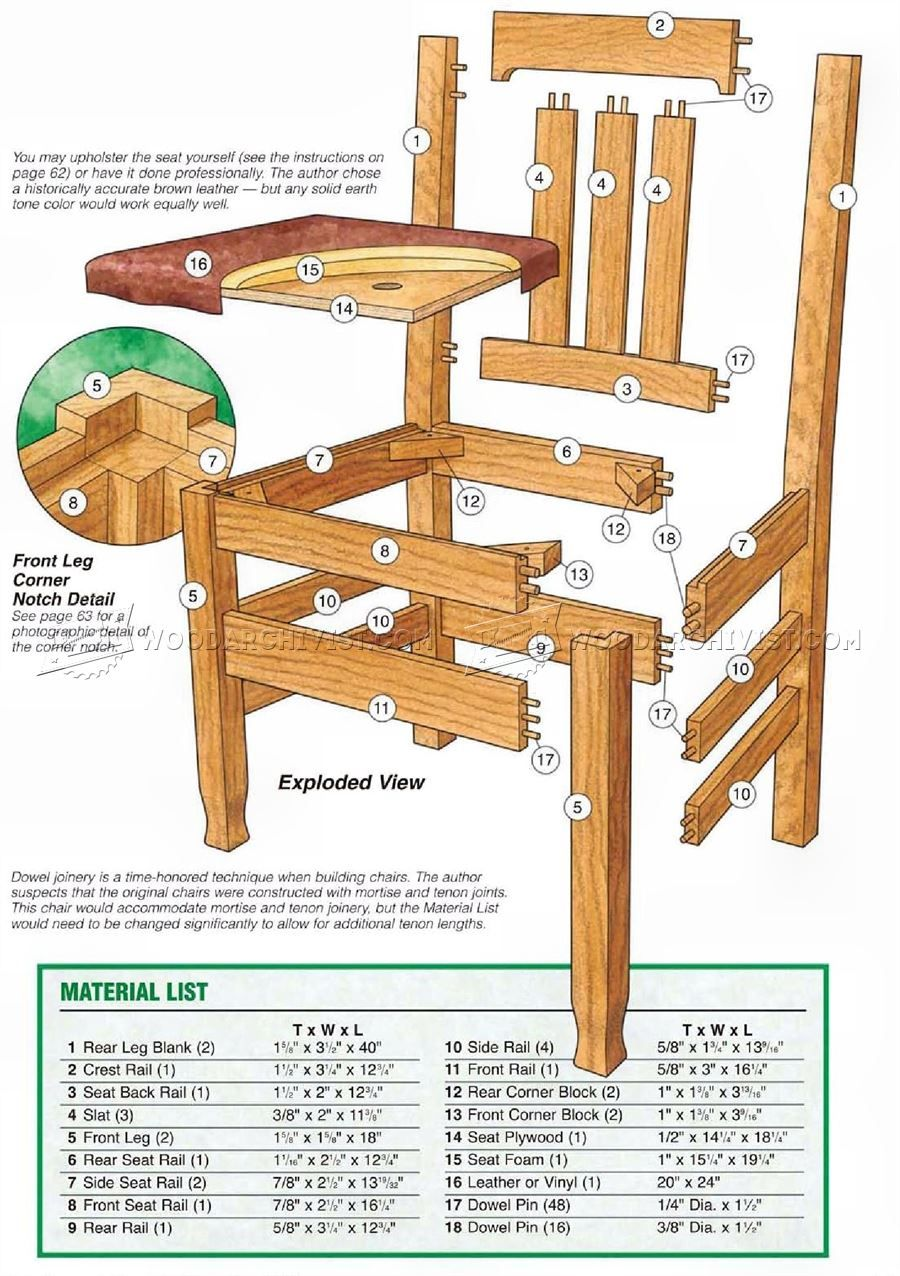 Free Dining Chair Plans Pdf