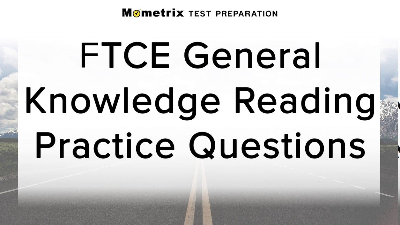 Ftce General Knowledge Math Practice Test Pdf