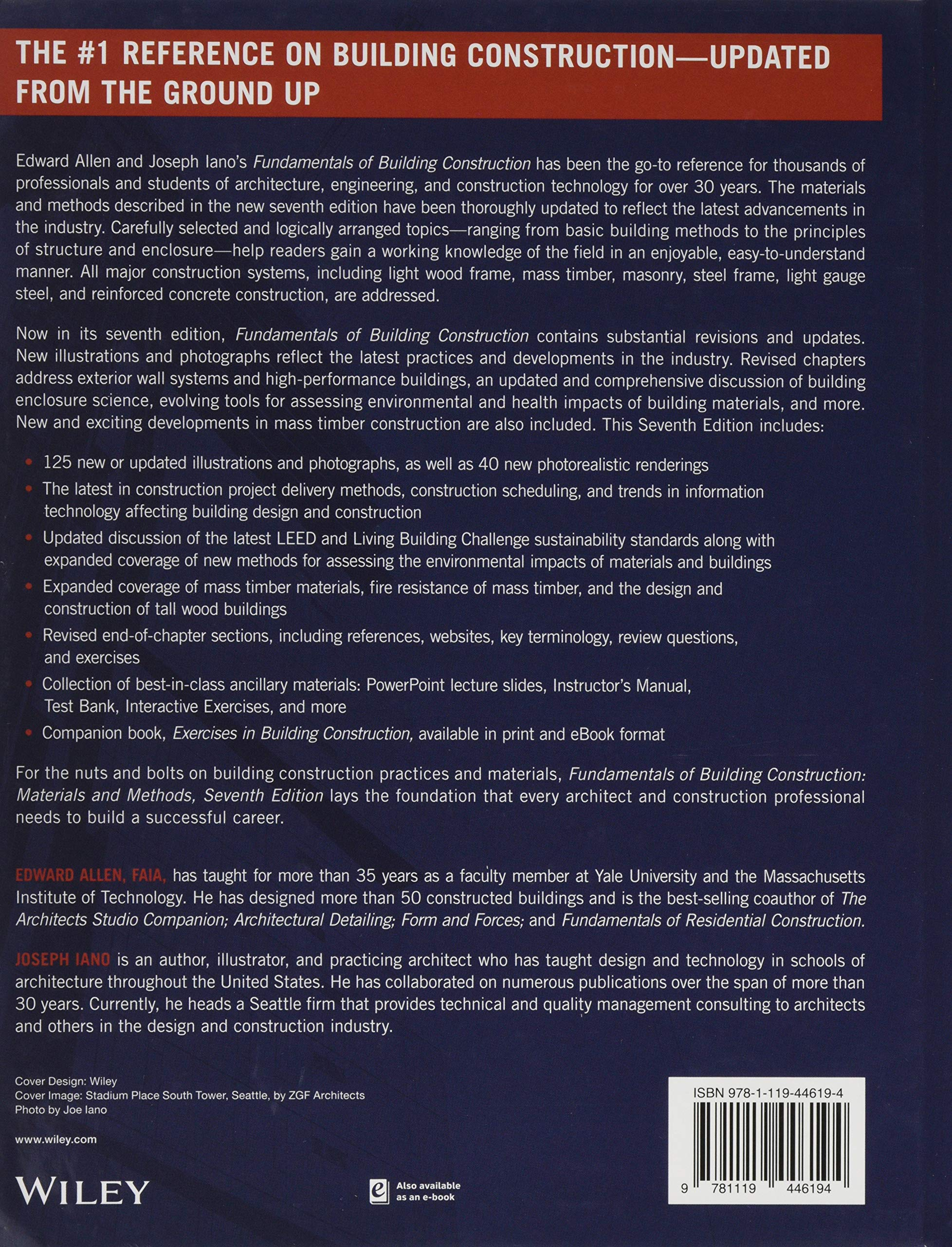 Fundamentals Of Building Construction 7th Edition Pdf