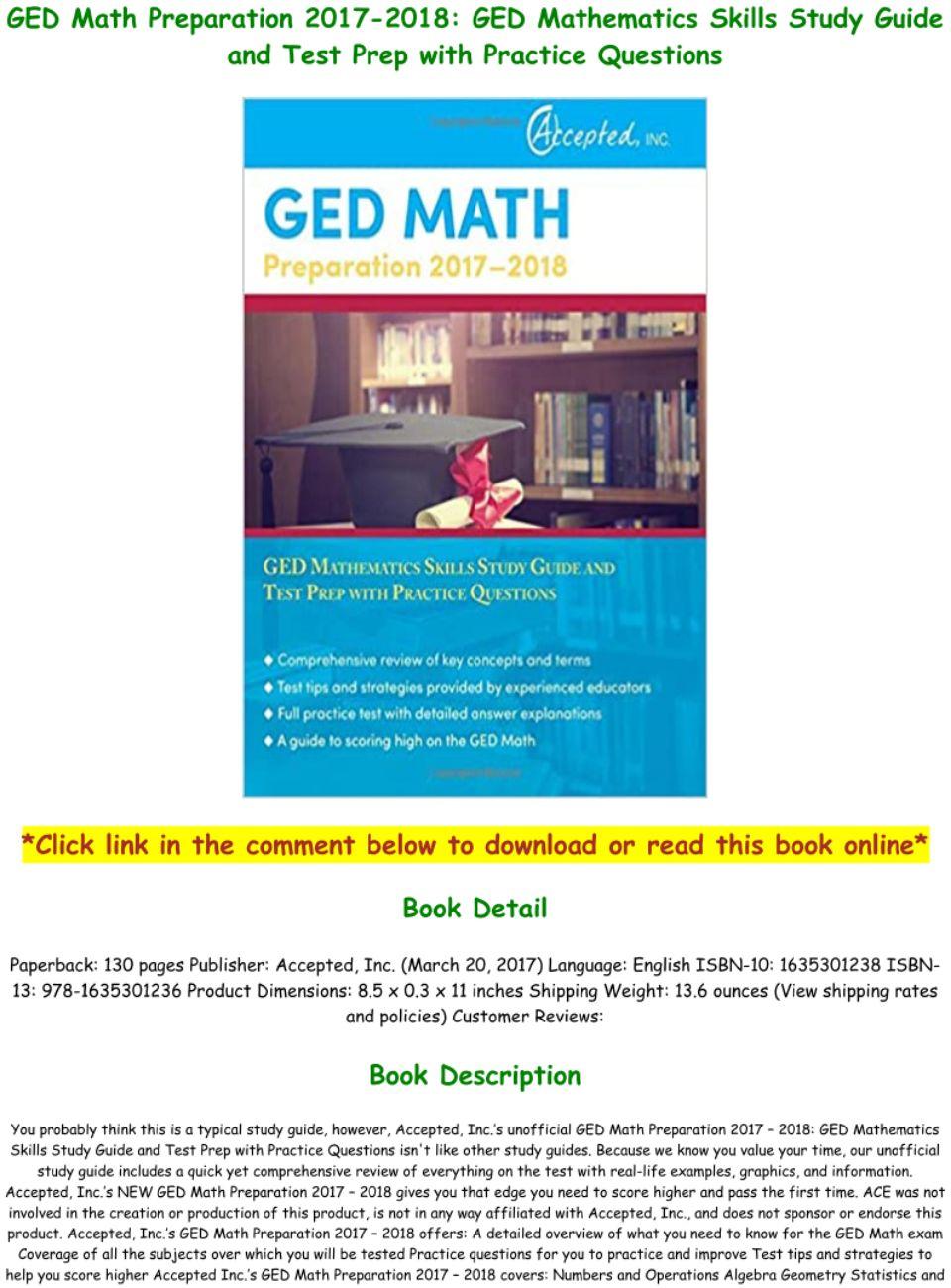 Ged Math Study Guide Pdf