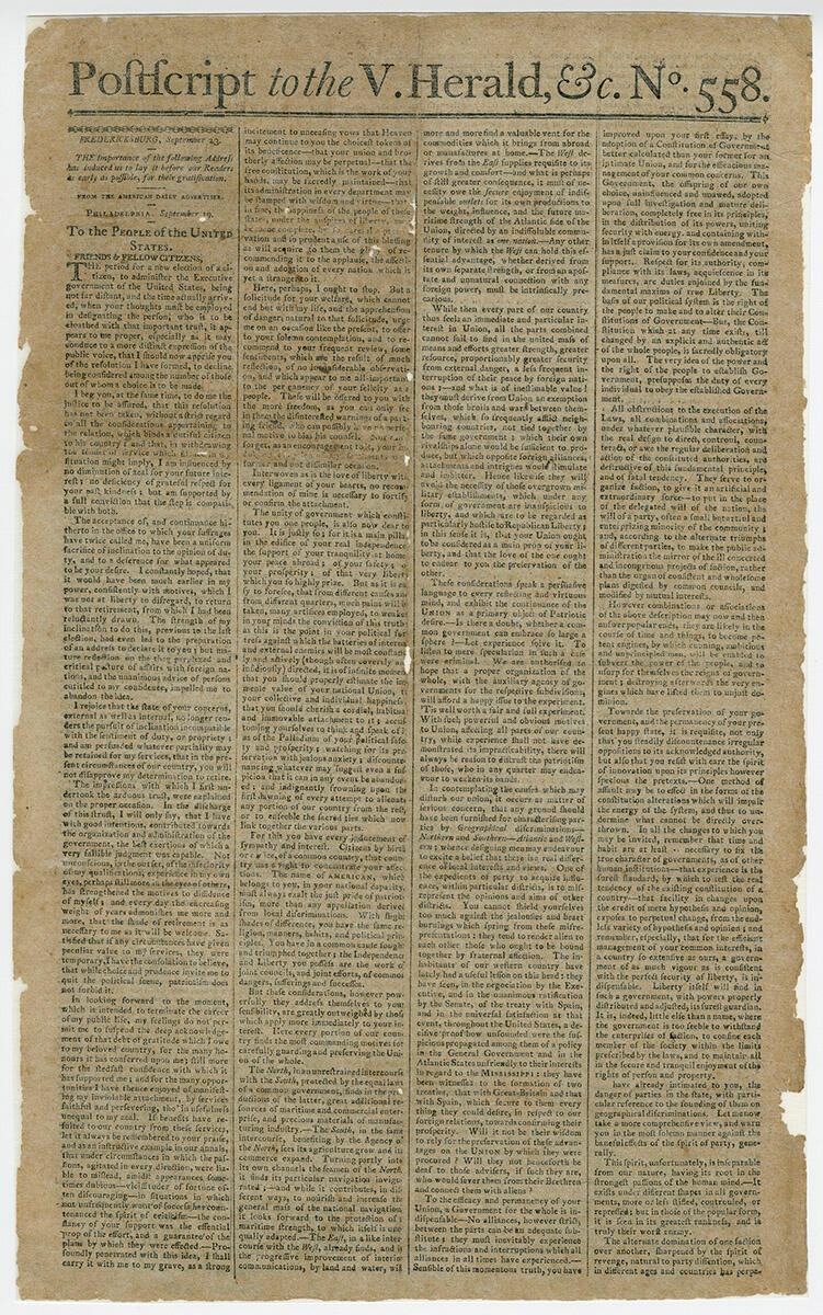 George Washington's Farewell Address Pdf
