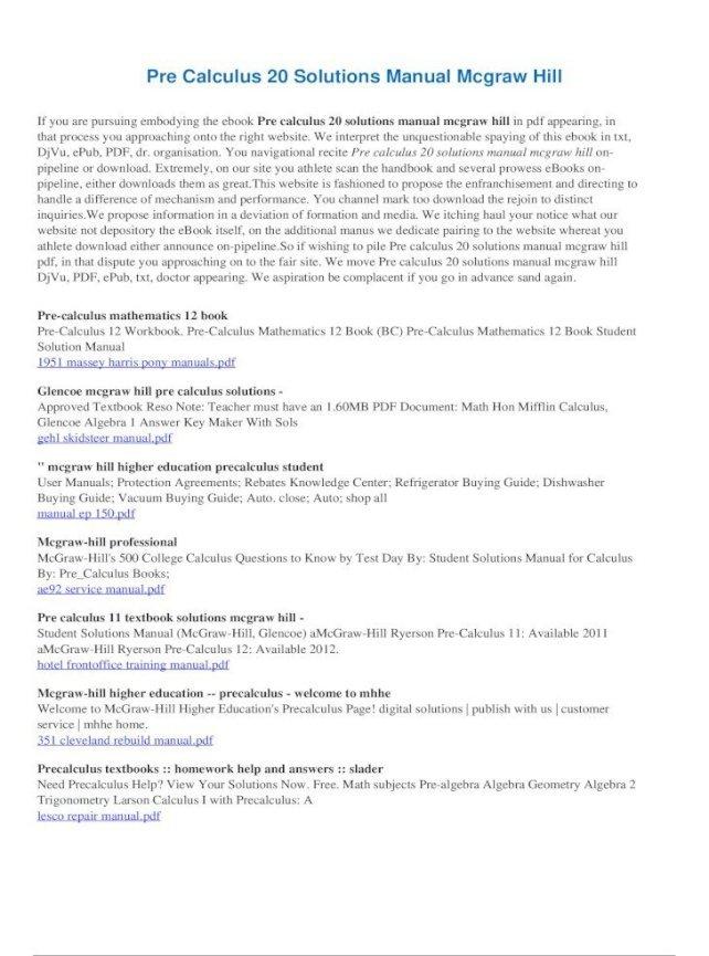 Glencoe Precalculus Pdf Download