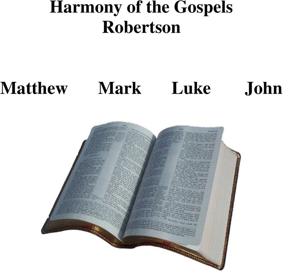 Harmony Of The Gospels Pdf