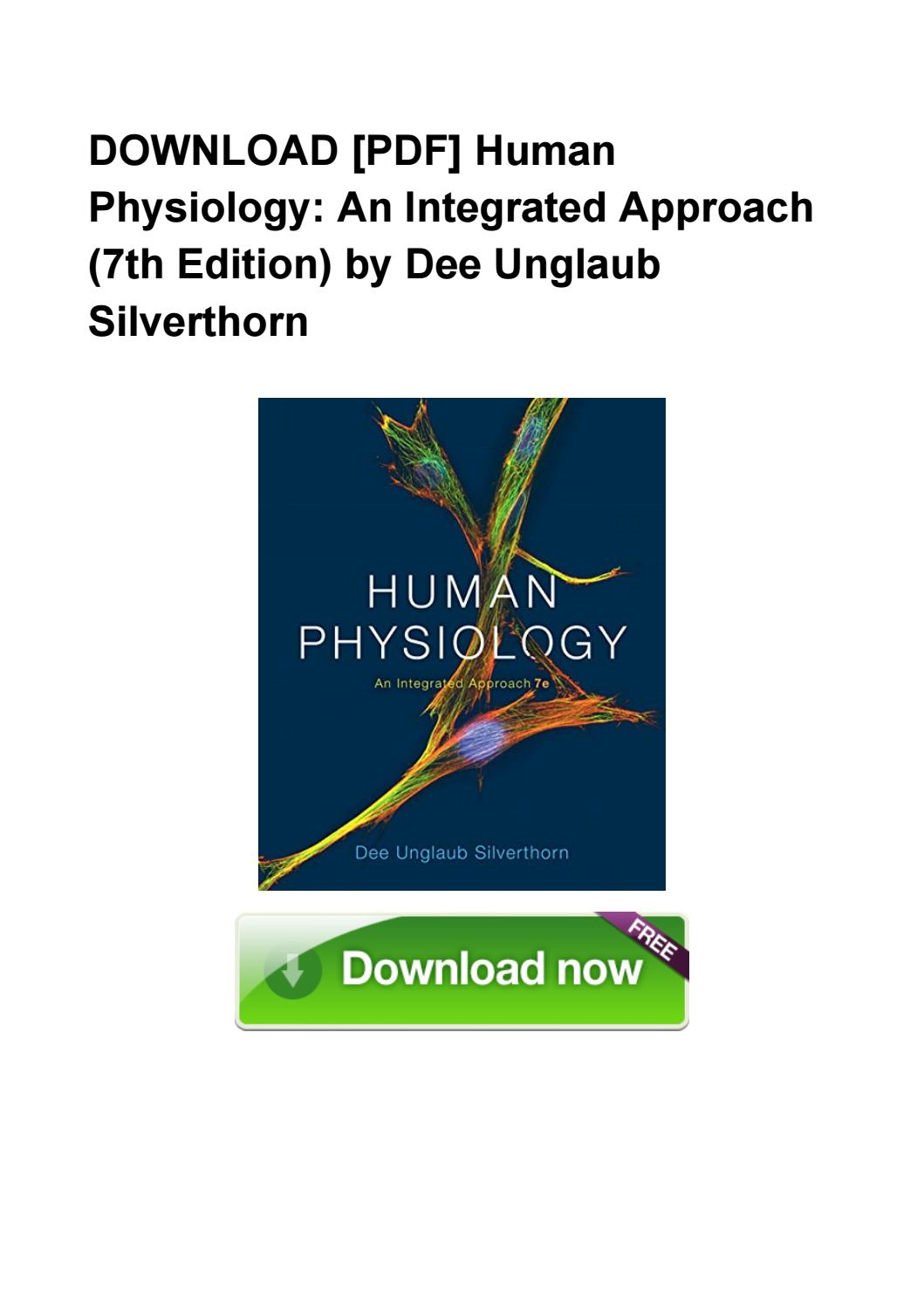 Human Physiology An Integrated Approach Pdf