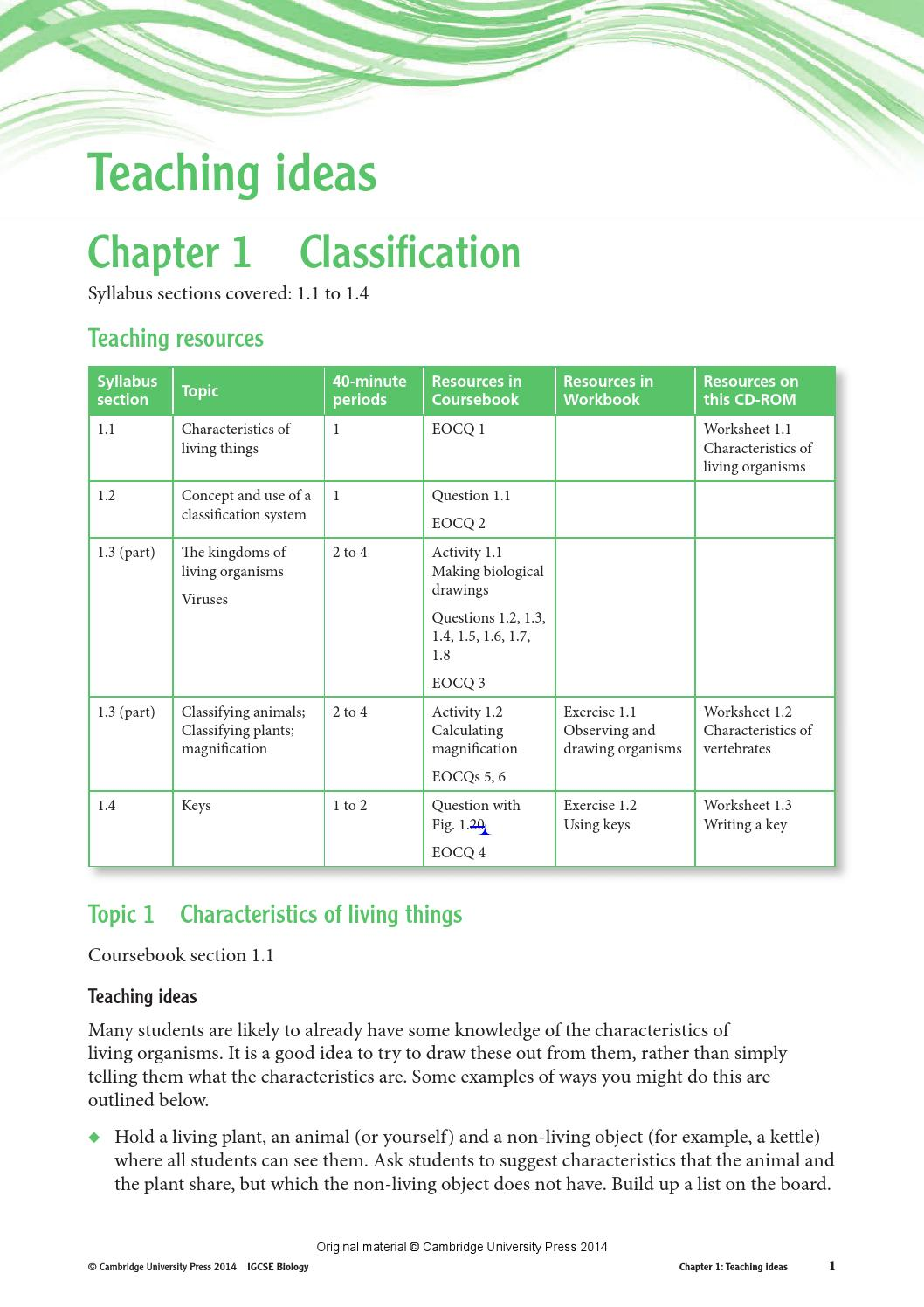 Igcse Biology Worksheets With Answers Pdf