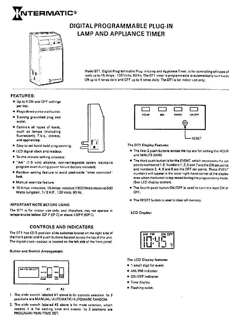 Intermatic Timer Manual Pdf