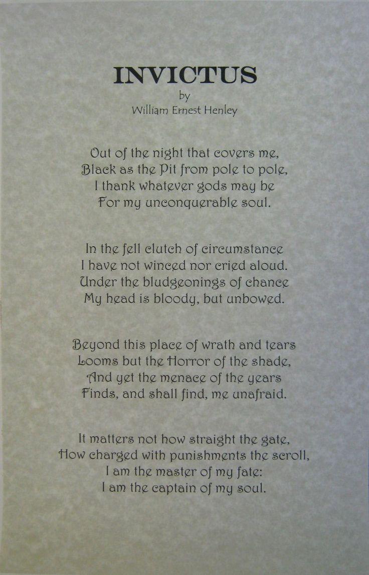 Invictus Poem Pdf Free