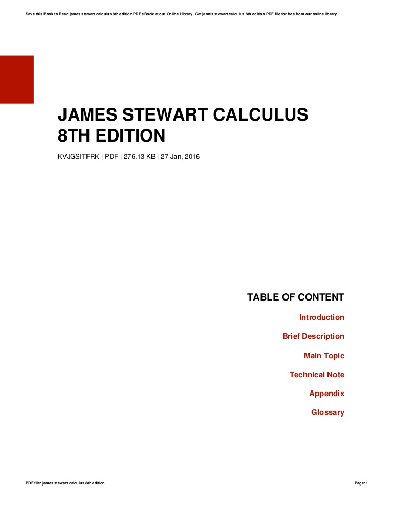 James Stewart Calculus 8th Edition Solutions Pdf Download