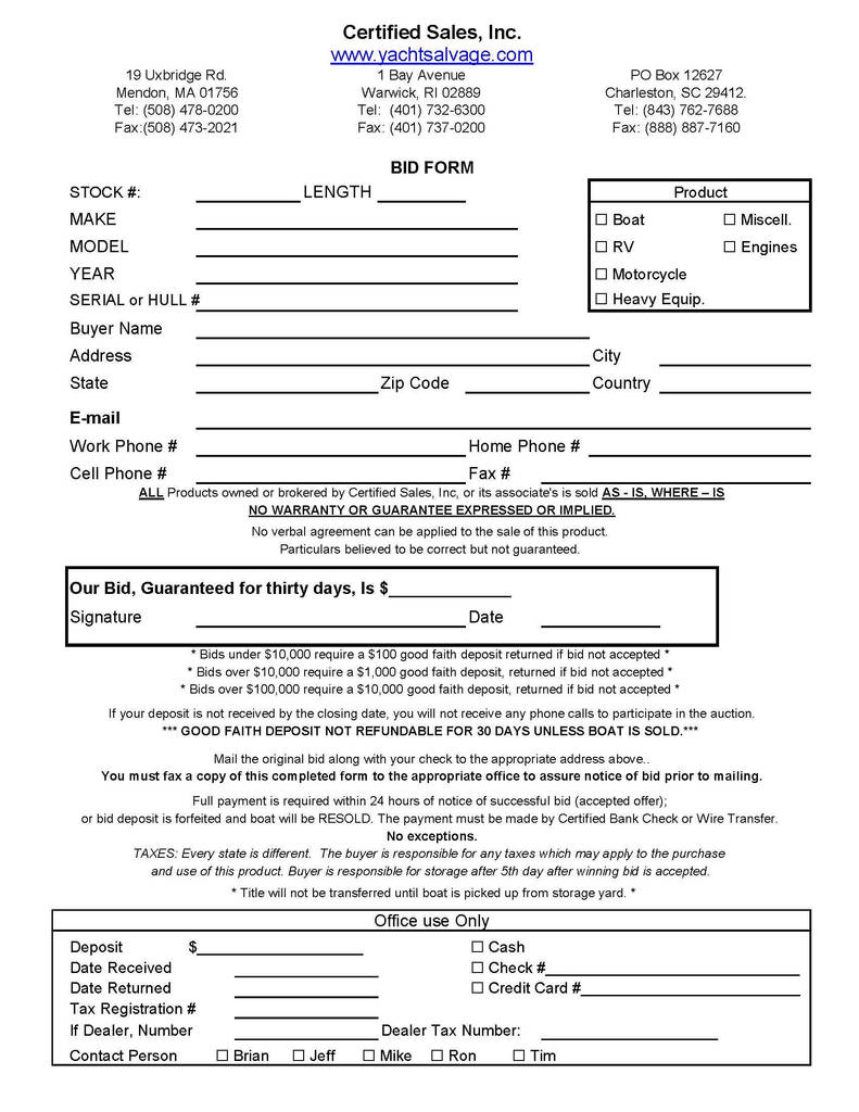 Jimmy Johns Order Form Pdf Lovely Bid Form Page 1 Bid Form Legal Documents