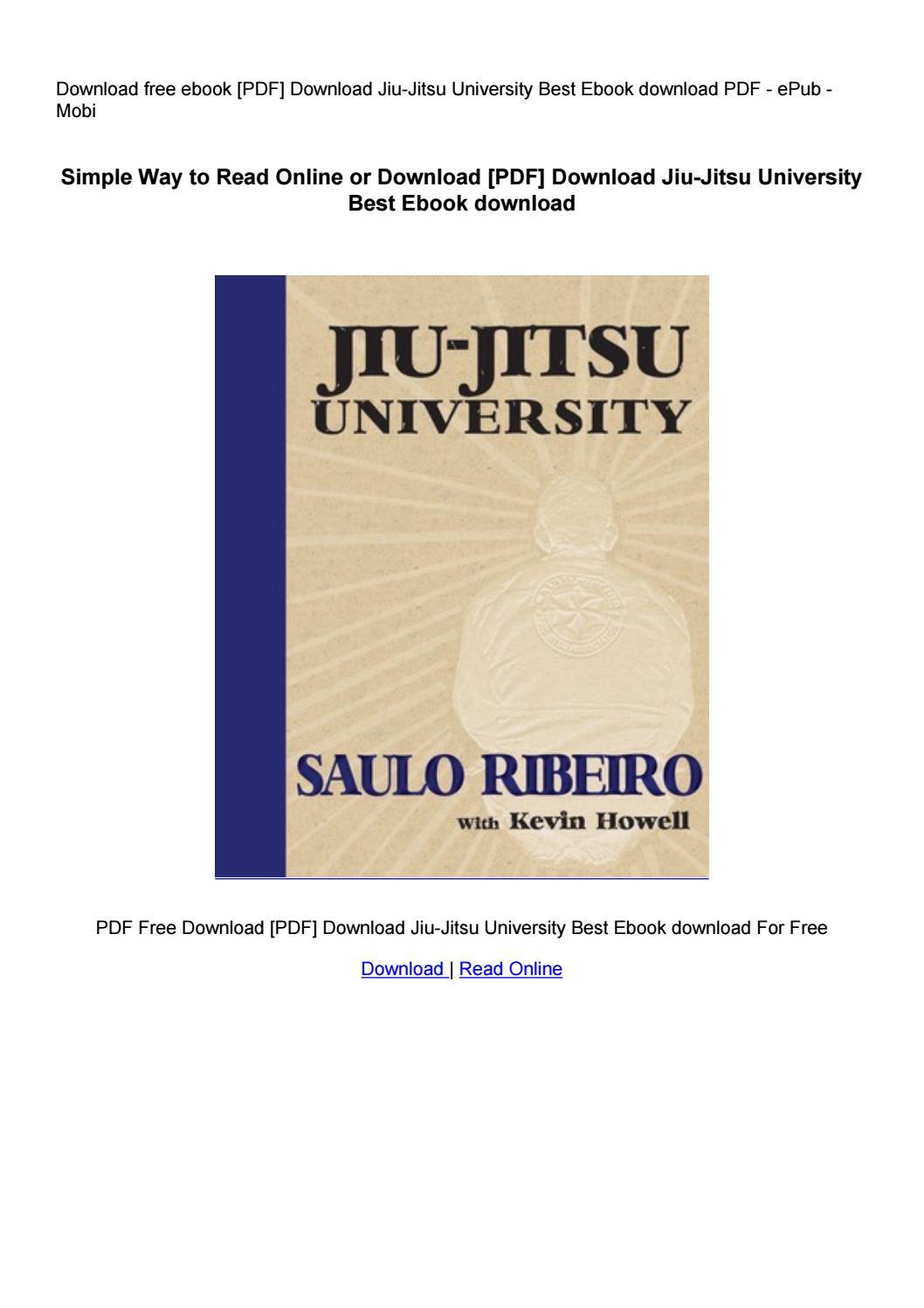 Jiu Jitsu University Pdf