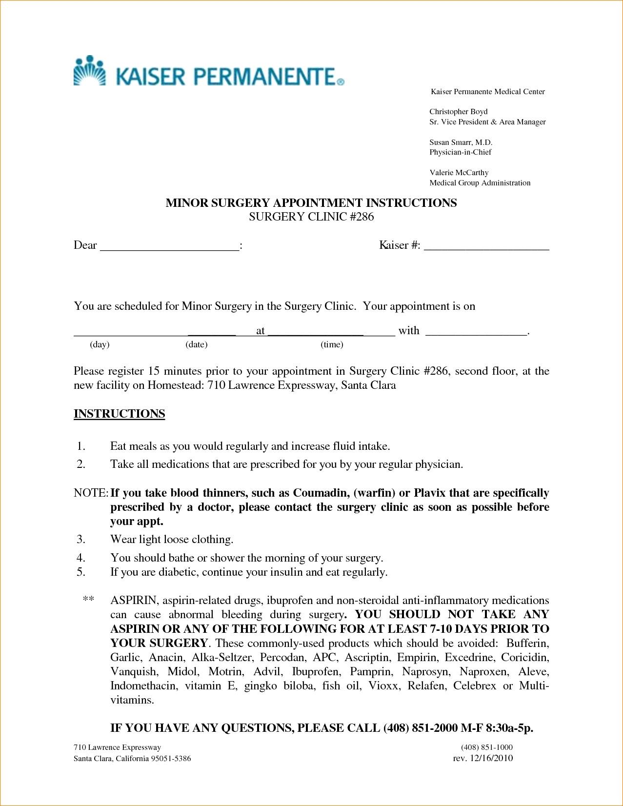 Kaiser Permanente Doctors Note Pdf Free