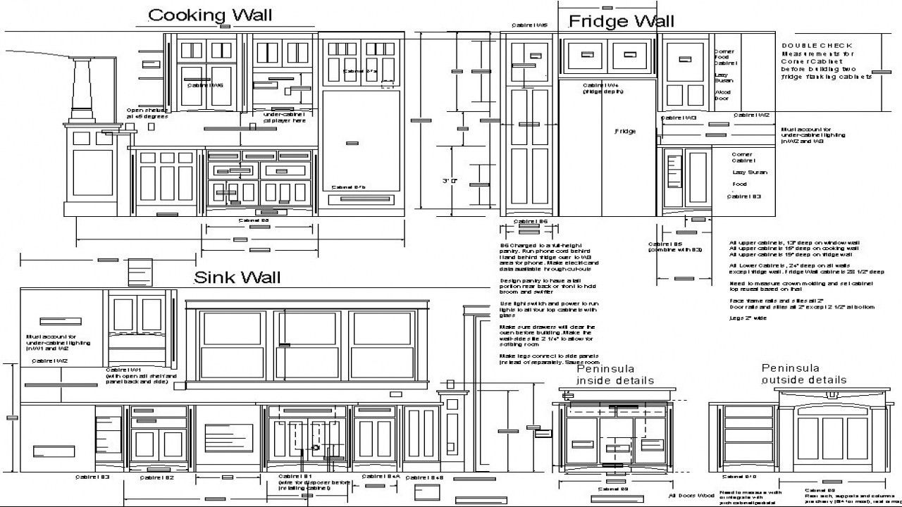 Kitchen Cabinets Wall Cabinet Plans Pdf