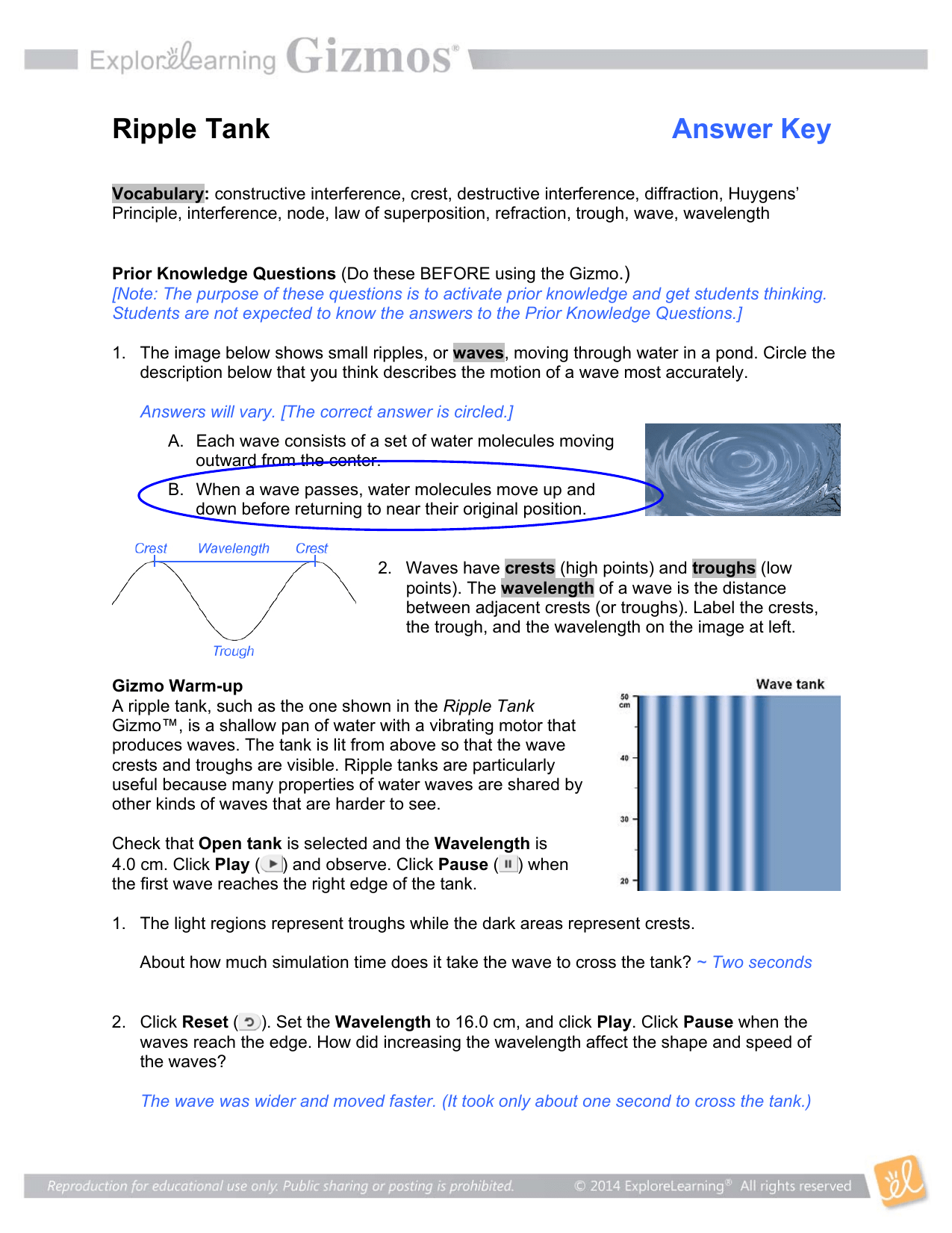Longitudinal Waves Gizmo Worksheet Answer Key Pdf