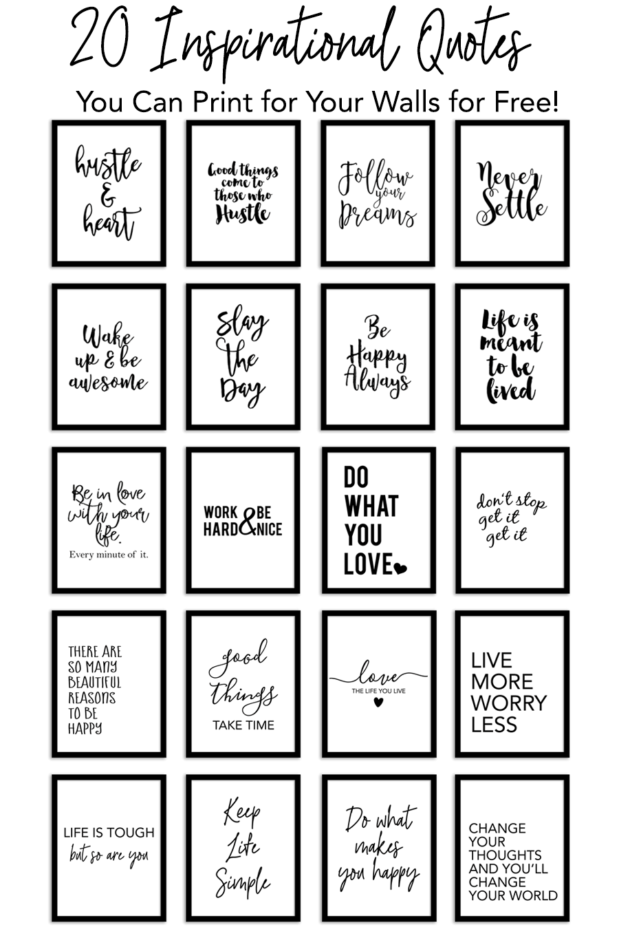 Love Signs Free Printable Quotes Pdf