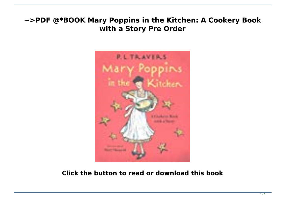 Mary Poppins Book Pdf
