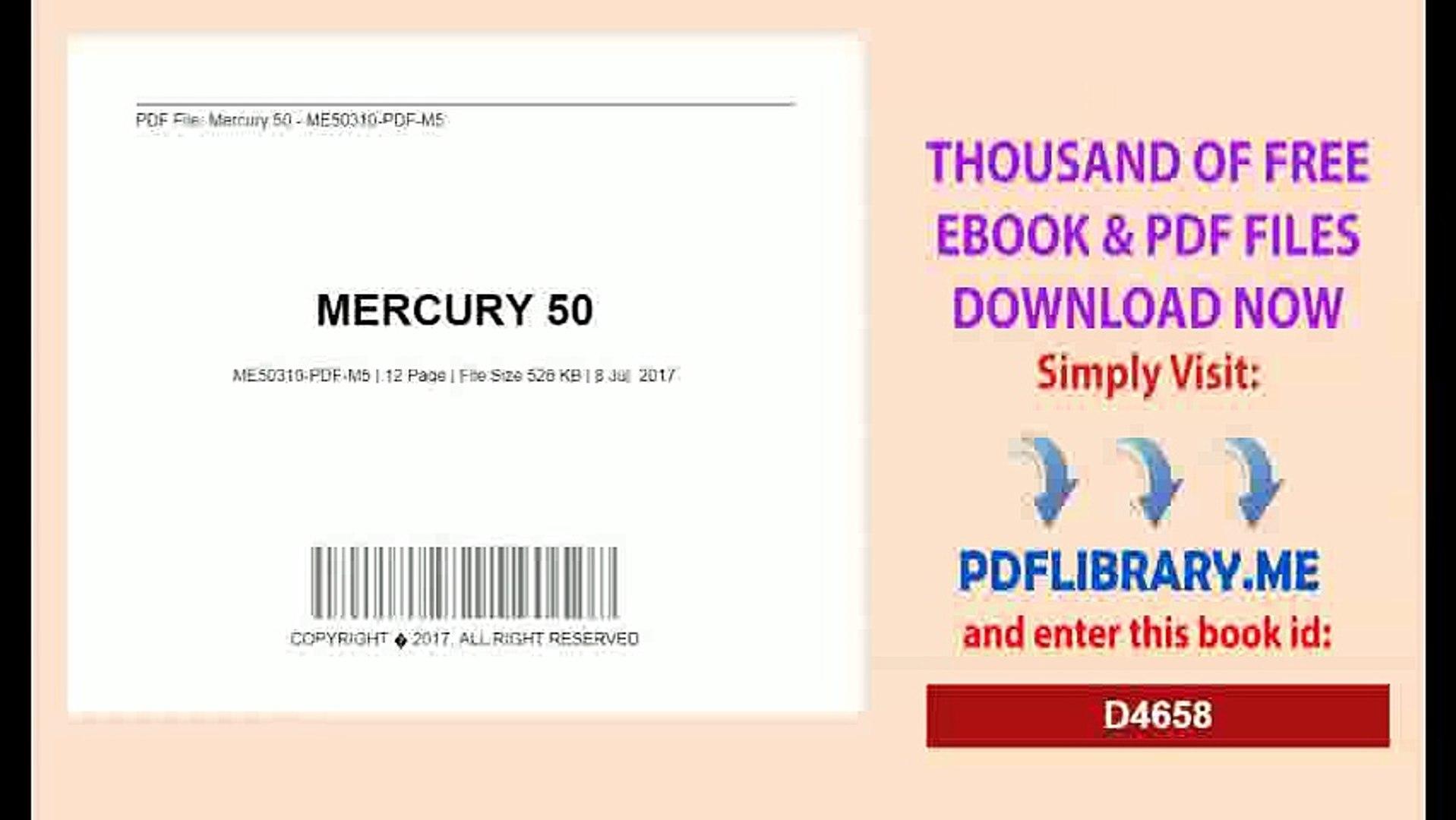 Mercury And Me Free Pdf