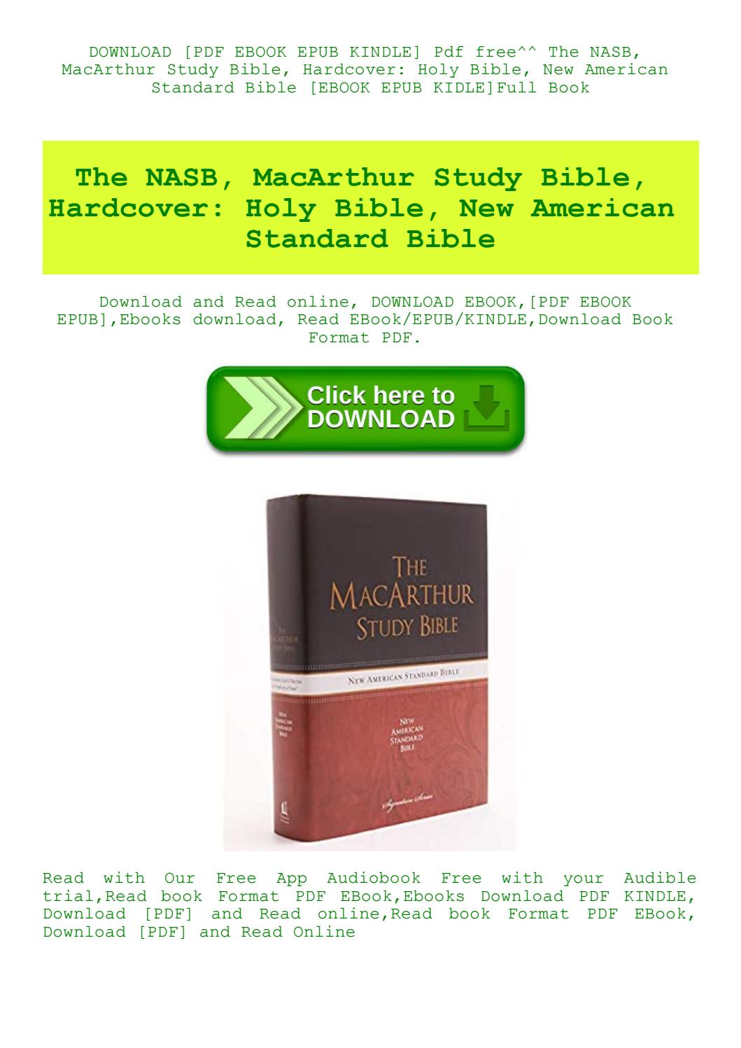 New American Standard Bible Pdf Download