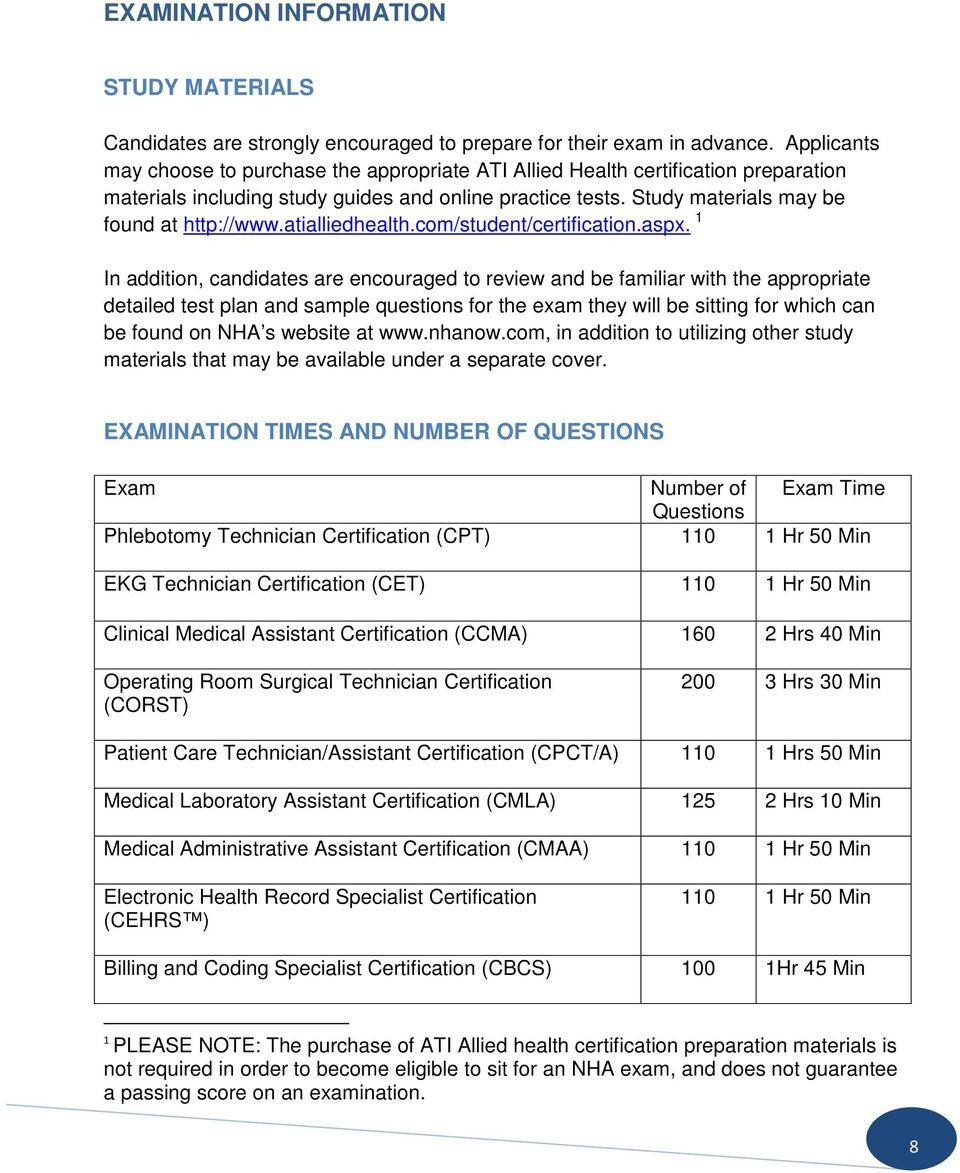 Nha Ccma Study Guide Pdf