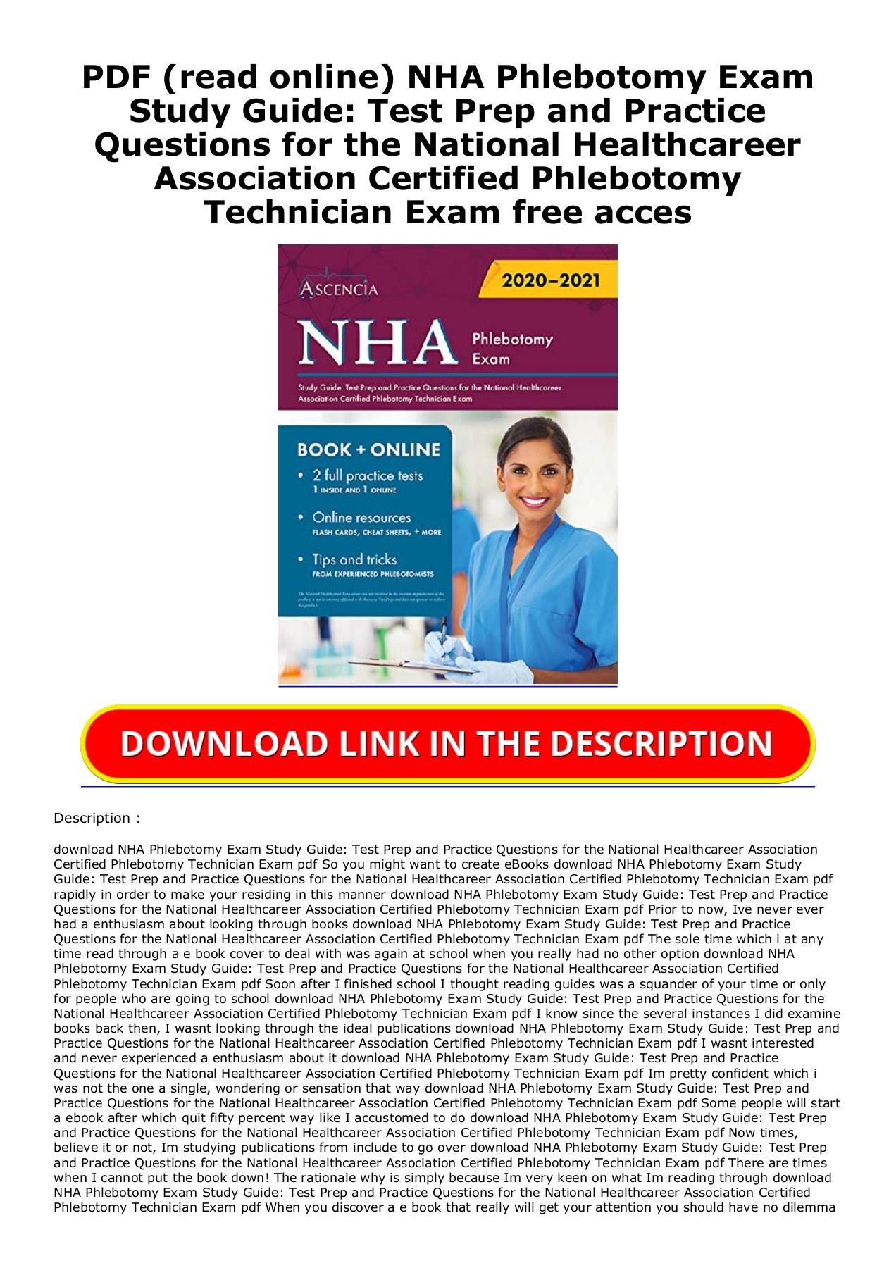 Nha Phlebotomy Study Guide Pdf