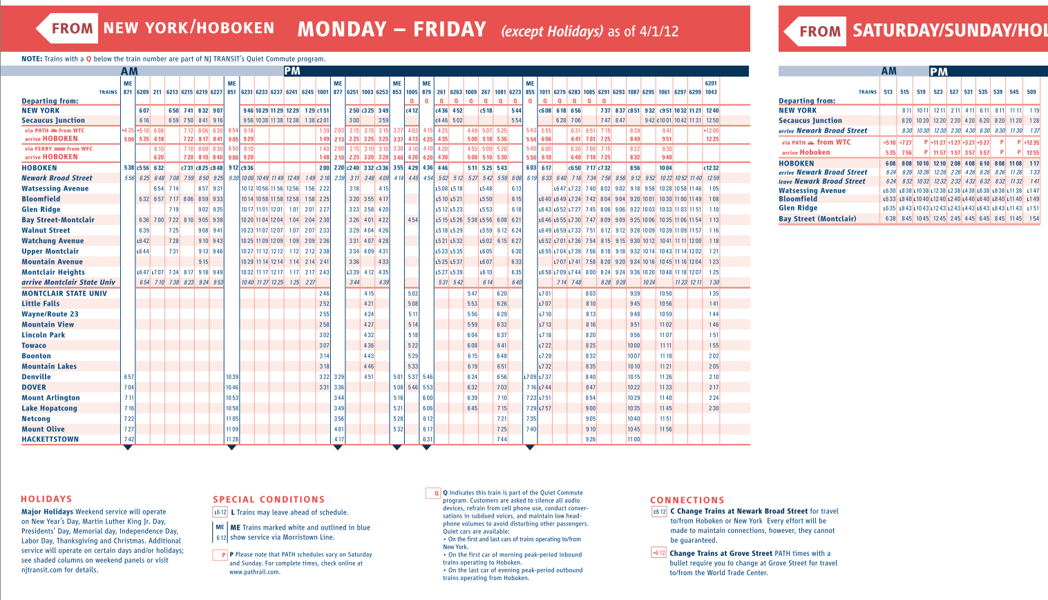 Nj Transit 166 Bus Schedule Pdf