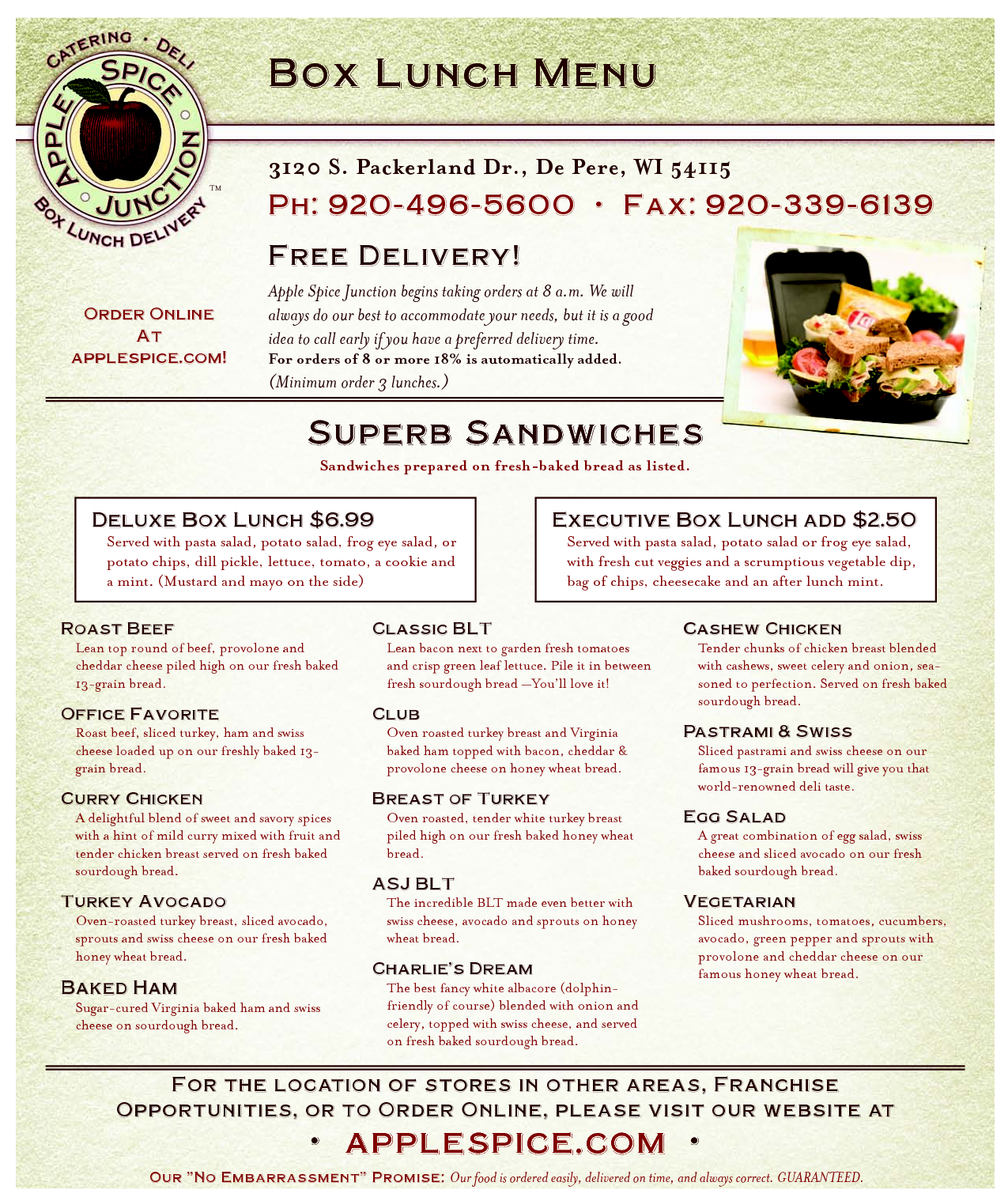 Panera Bread Catering Menu Pdf
