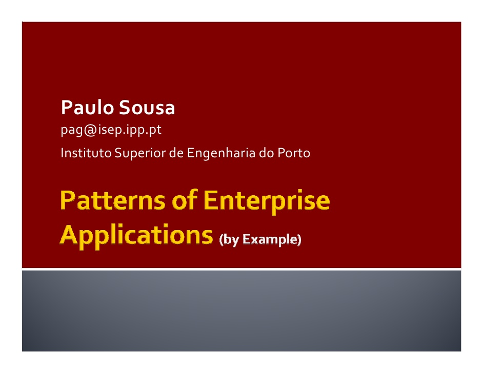 Patterns Of Enterprise Application Architecture Pdf Free