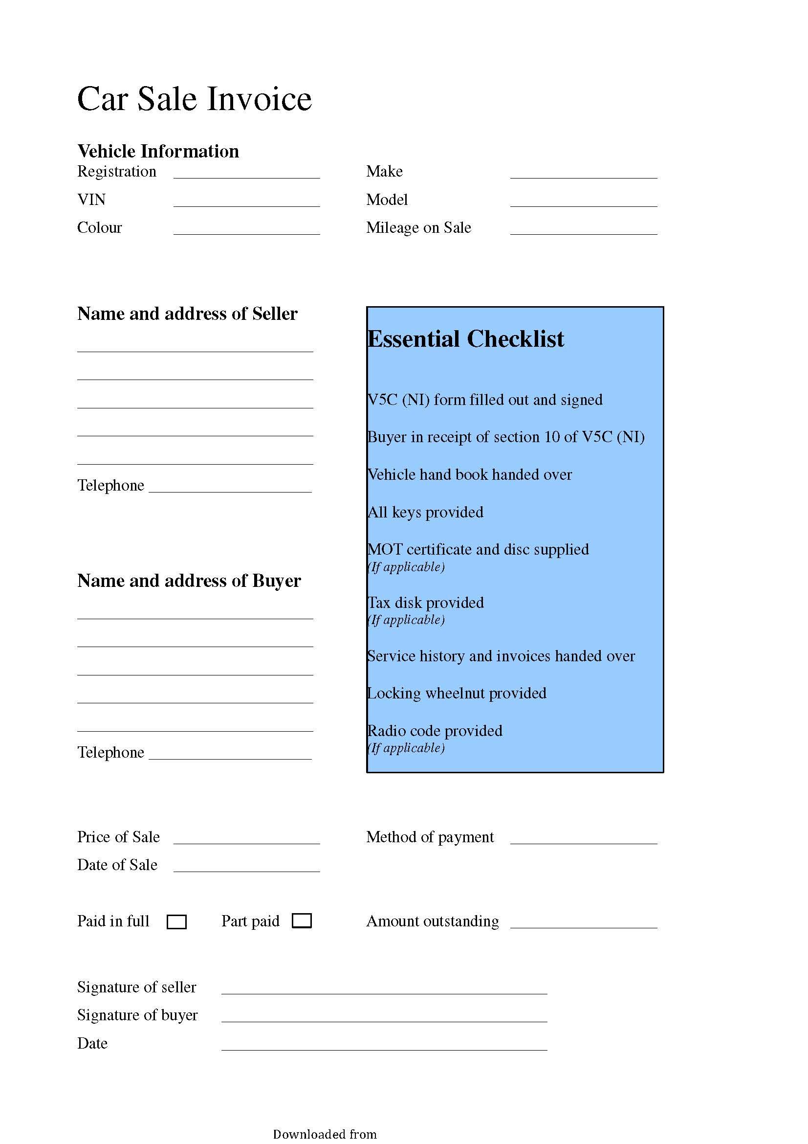 Payment Receipt Pdf Format