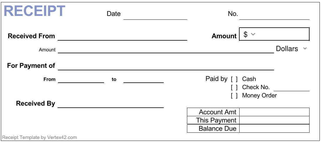 Payment Receipt Pdf